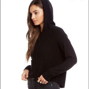 Brand new Chaser cropped hoodie in all black